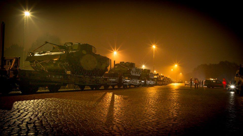 Die Verlegung der Gefechtsfahrzeuge nach Niedersachsen erfolgte mit der Bahn © Bundesheer