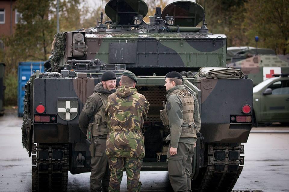 König Willem-Alexander besichtigt einen Ulan © Bundesheer
