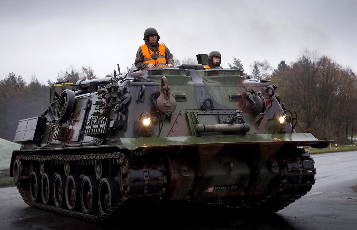 Der Bergepanzer M88A1 ist das schwerste Fahrzeug der Battlegroup © Bundesheer