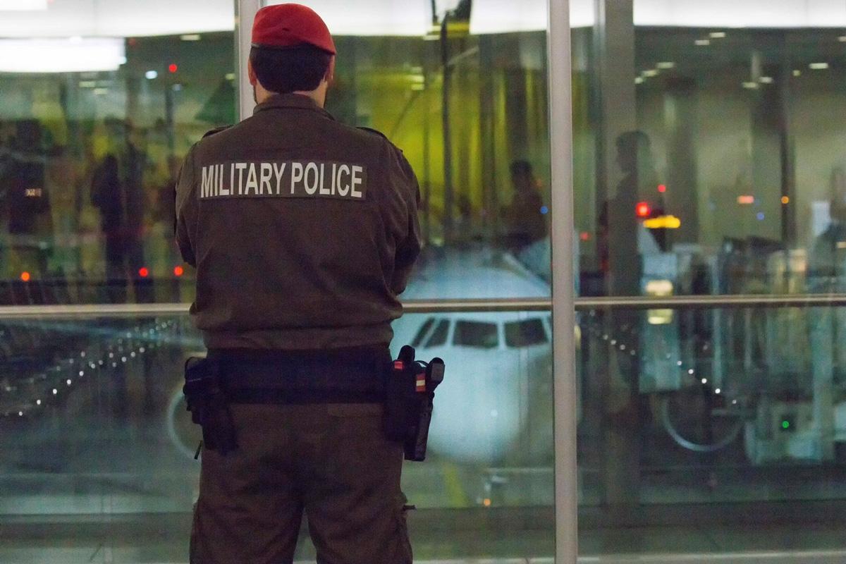 Militärpolizei am Flughafen © Bundesheer