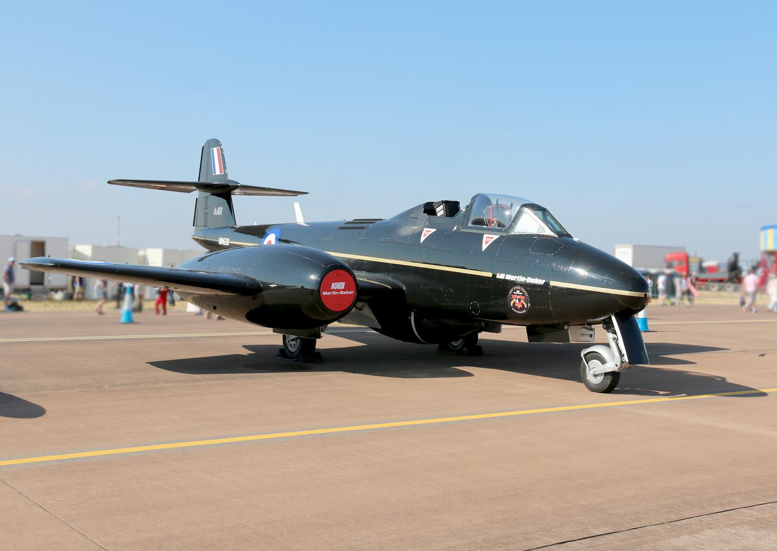 Gloster Meteor T.7 WA638 Testflugzeug für Martin Baker Schleudersitze © Doppeladler.com