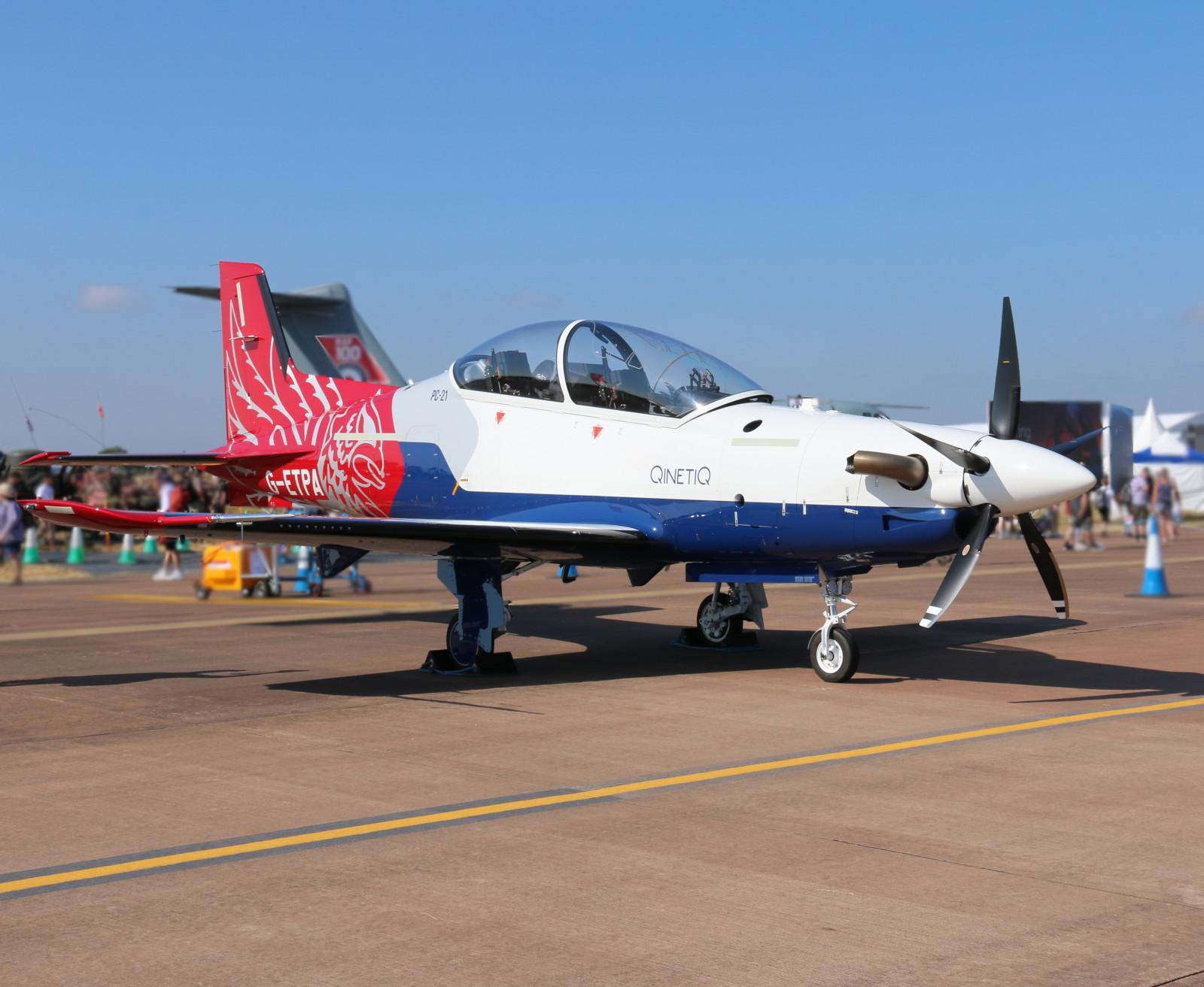 Pilatus PC-21 G-ETPA der Firma QinetiQ © Doppeladler.com