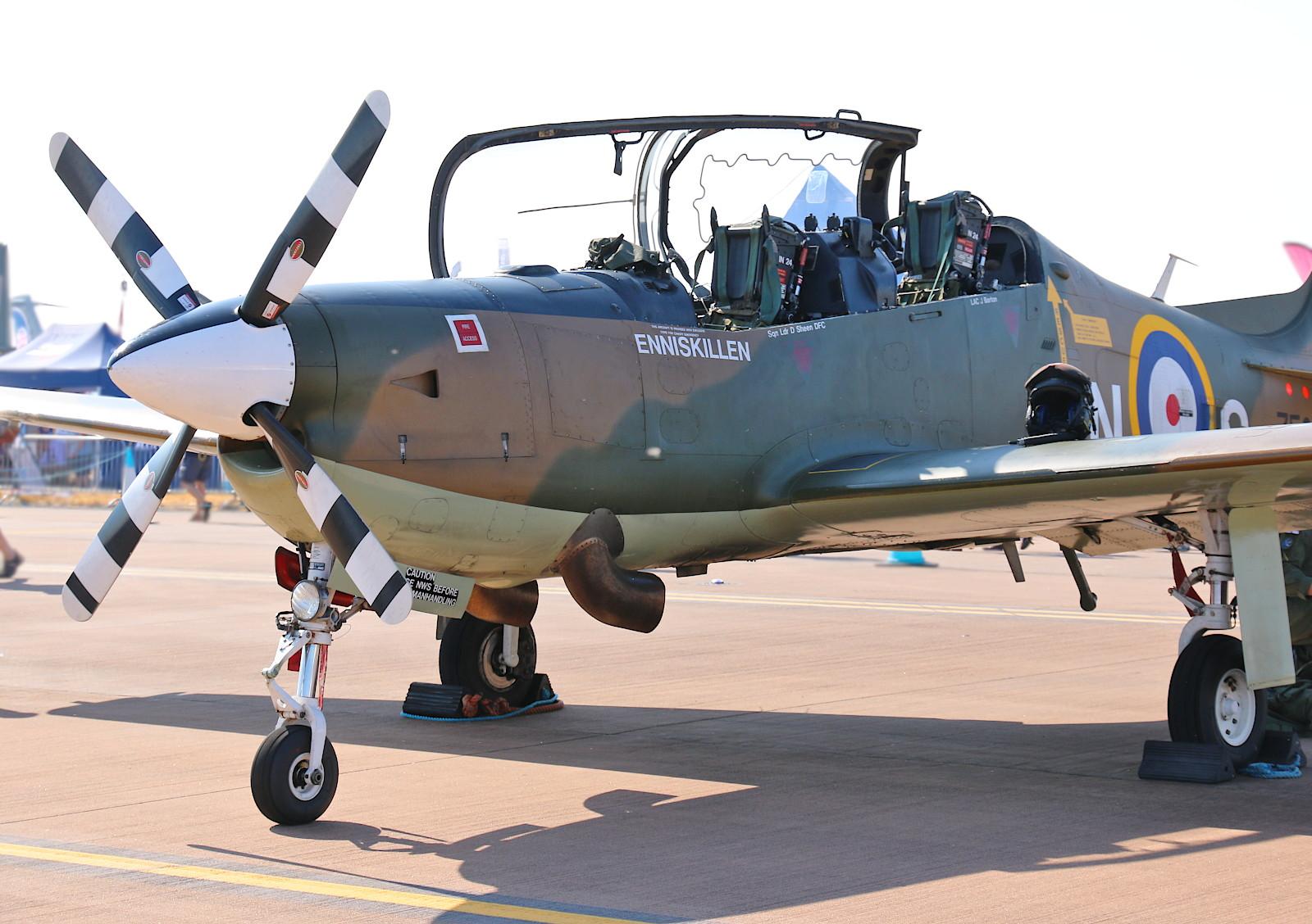 Short S-312 Tucano T1 (ZF378) ist eine Embraer EMB-312 mit stärkerem Garrett-TPE331-Triebwerk © Doppeladler.com