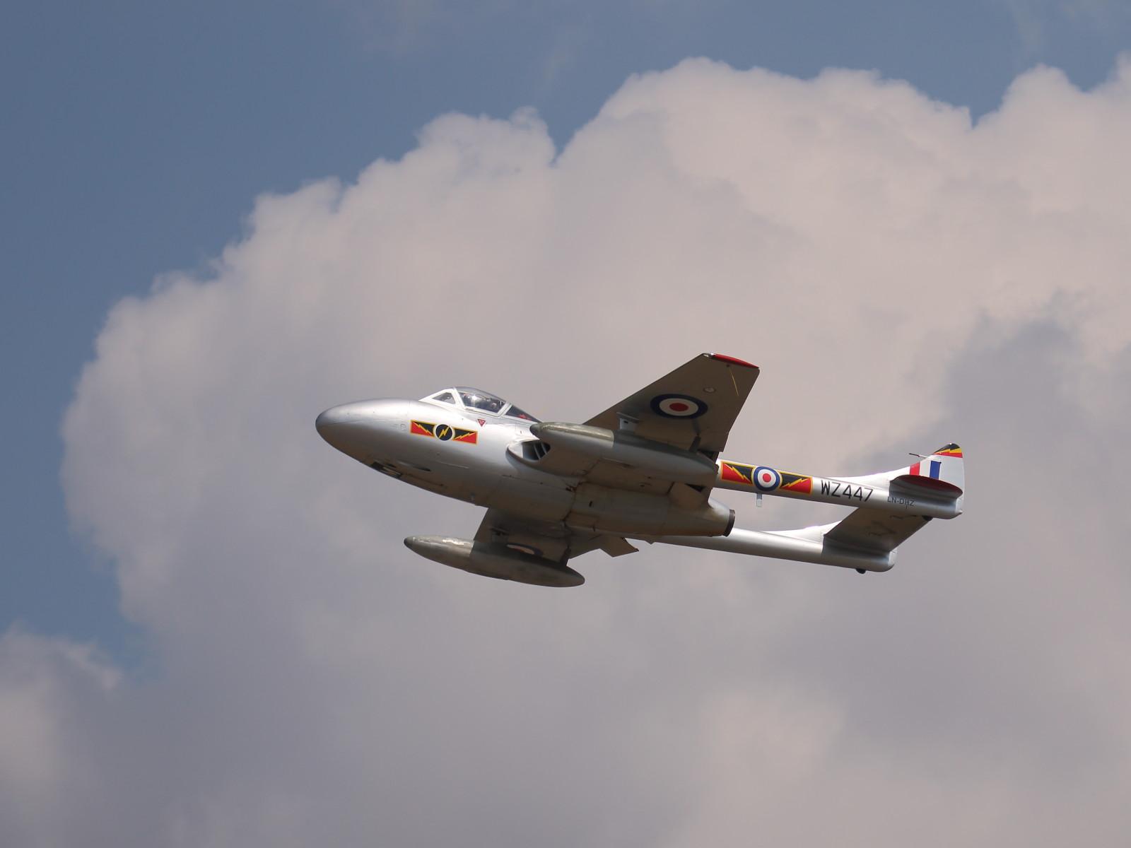 De Havilland Vampire T.55 LN-DHZ in den Farben der RAF WZ447 © Doppeladler.com