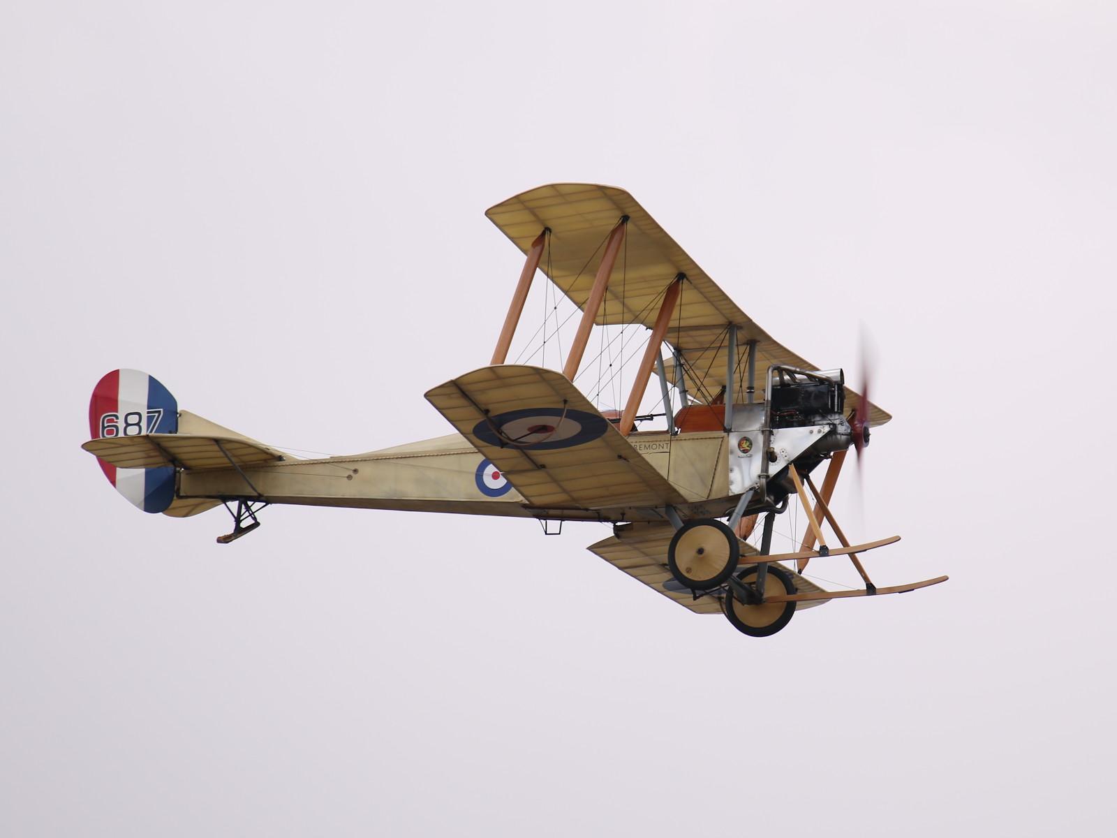 Royal Aircraft Factory BE2c 687 - das erste in GB hergestellte Militärflugzeug © Doppeladler.com