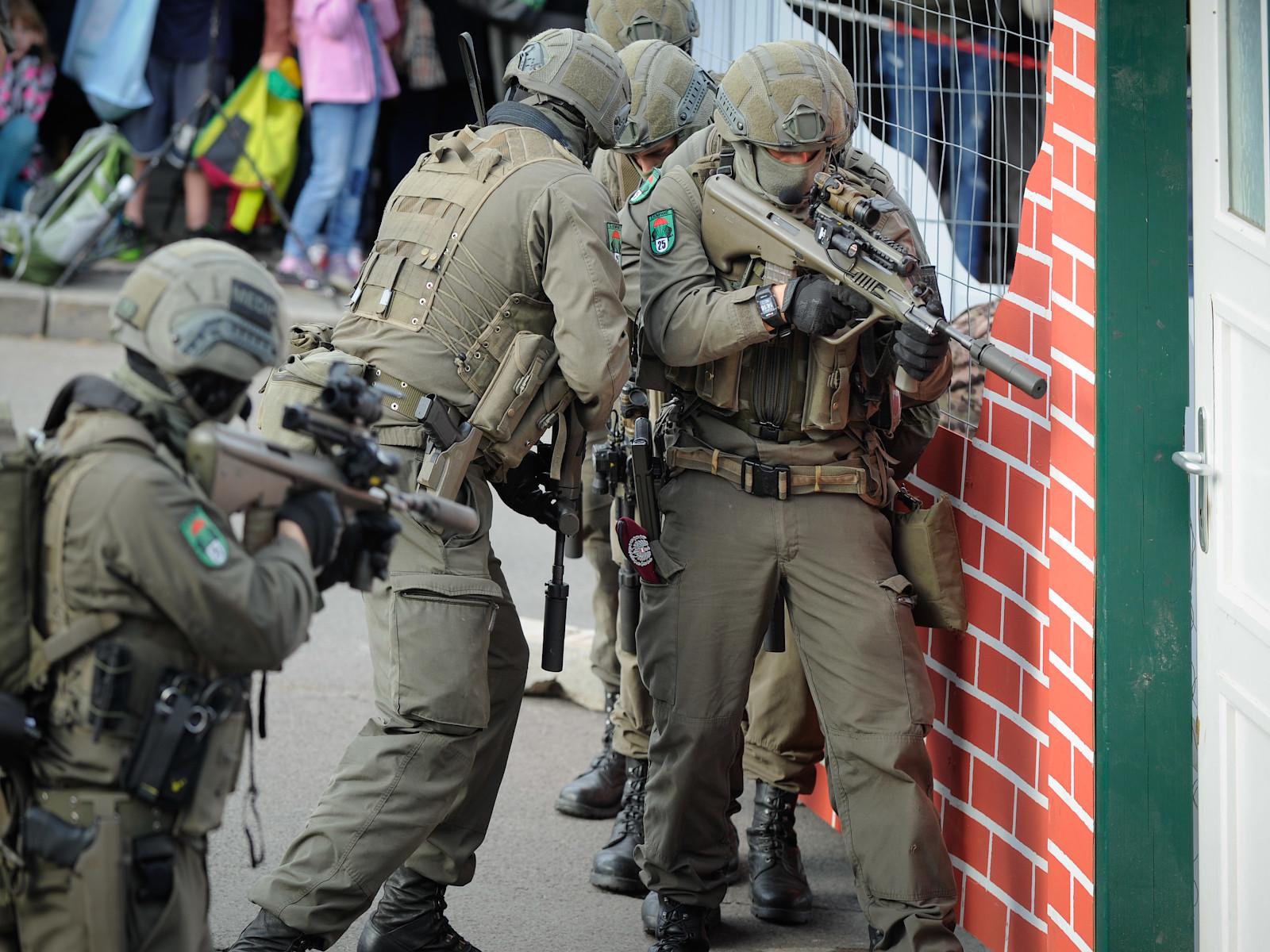Jägerbataillon 25 bei der Gefechtsvorführung © Bundesheer
