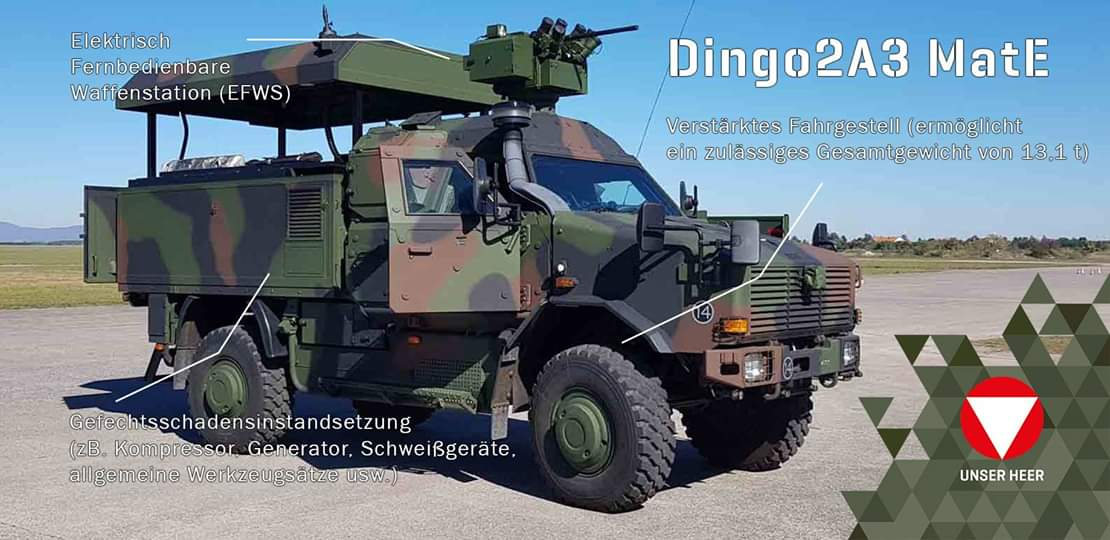 Allschutzfahrzeug DINGO 2A3 MatE (Materialerhaltung) © Bundesheer