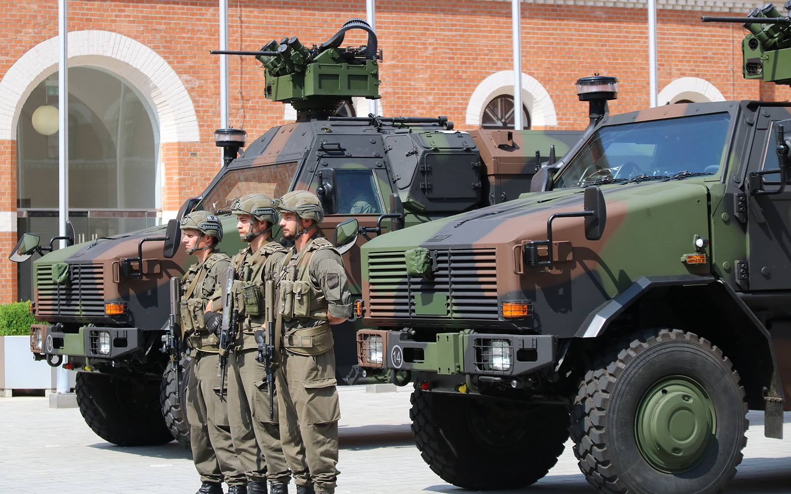Vorstellung der Version DINGO 2A3 MatE (Materialerhaltung) am 04.06.2018 in der Rossauer Kaserne © Bundesheer