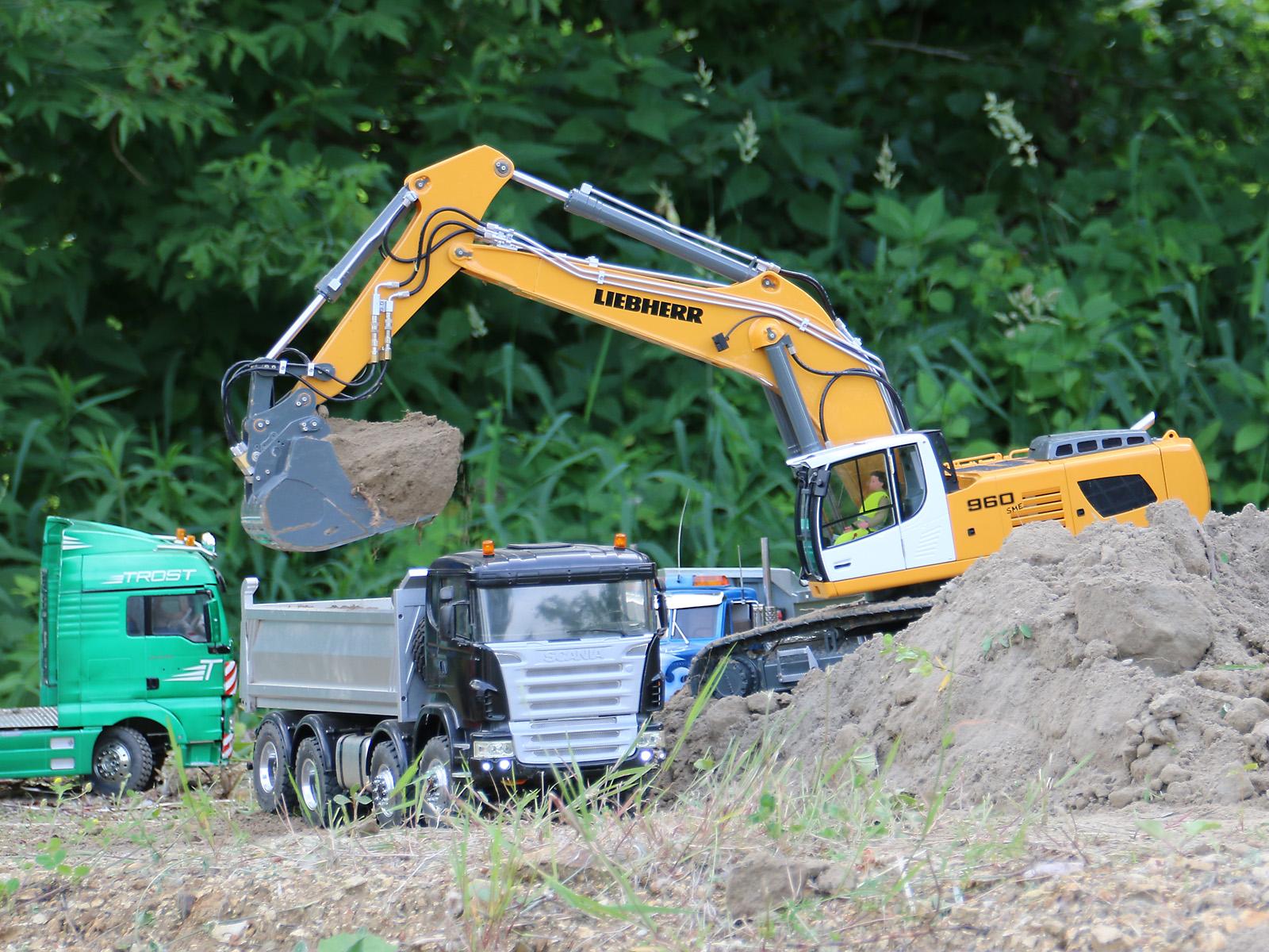 Die Modell-Baustelle ist vor allem ein Anziehungspunkt für die jüngeren Besucher © Doppeladler.com