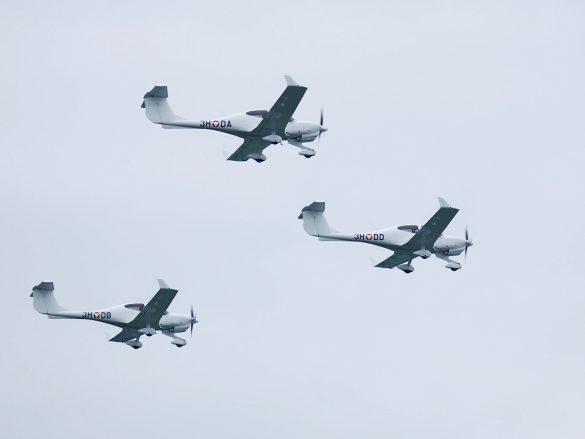 Diamond DA-40NG '3H-DA', '3H-DB' und '3H-DD' © Doppeladler.com