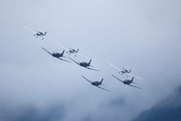 Bundesheer-Trainer-Formation aus PC-7 und DA-40NG © Doppeladler.com