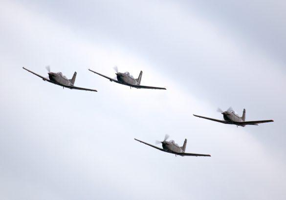 Pilatus PC-7 Turbo Trainer 4er-Formation © Doppeladler.com