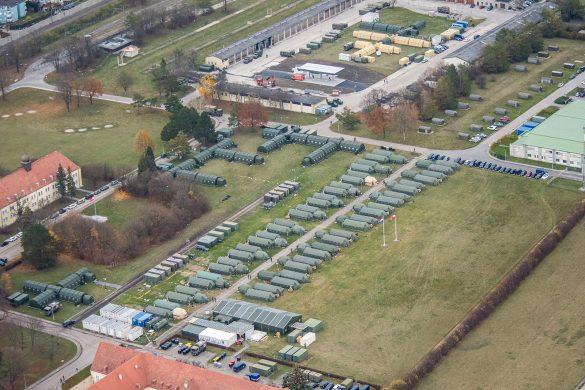 Die autarke Main Operating Base der Battlegroup wurde am Fliegerhorst Brumowski errichtet © Bundesheer