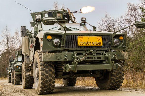 Oshkosh M-ATV (MRAP – All Terrain Vehicle) im Feuerkampf © Bundesheer