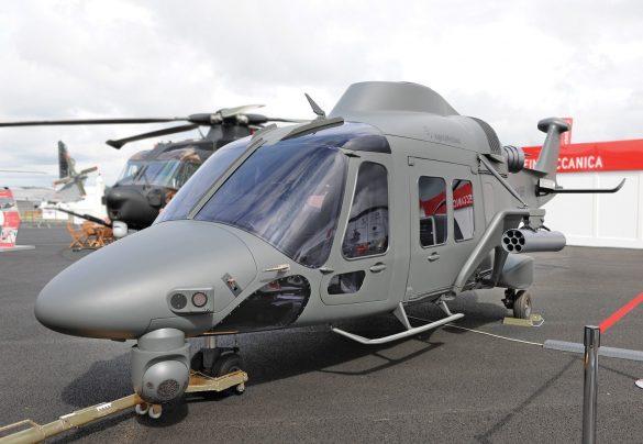 Mockup eines AW169M mit Bewaffnung und Selbstschutz © Internet