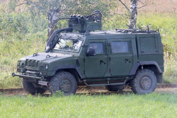 Die von der Polizei angeforderte Eingreiftruppe schickt GMF Husar zur Aufklärung vor © Doppeladler.com