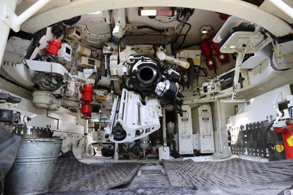 Innenraum der Panzerhaubitze © Doppeladler.com