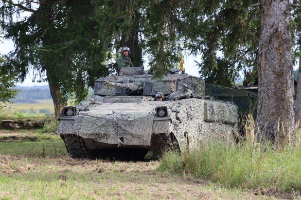 Schützenpanzer Ulan mit dem Tarnsystem Barracuda von Saab © Doppeladler.com