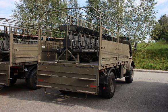 UNIMOG U 4000 ÖBH mit Rüstsatz für den Mannschaftstransport © Doppeladler.com