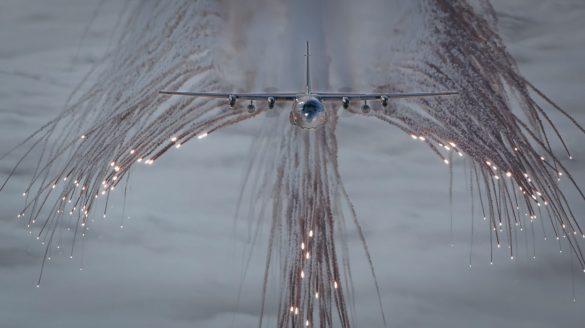 Hercules 8T-CB beim Täuschkörperausstoß© Bundesheer
