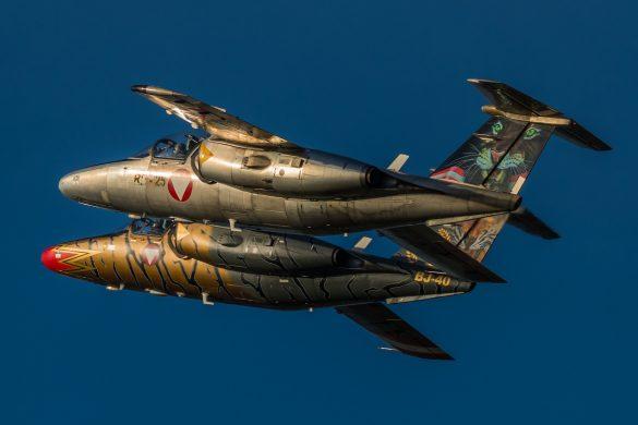 "SAAB 105 OE BJ-40 ""Golden Tiger"" mit RE-25 - ebenfalls mit Tiger-Leitwerk © Christian Köhler"