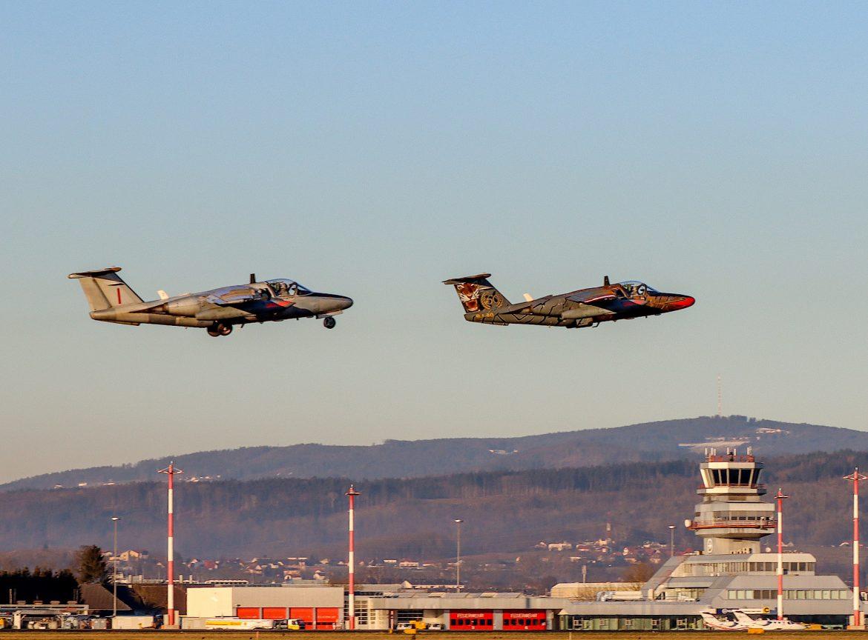 Take-Off zur letzten Mission der SAAB 105 OE © Bundesheer