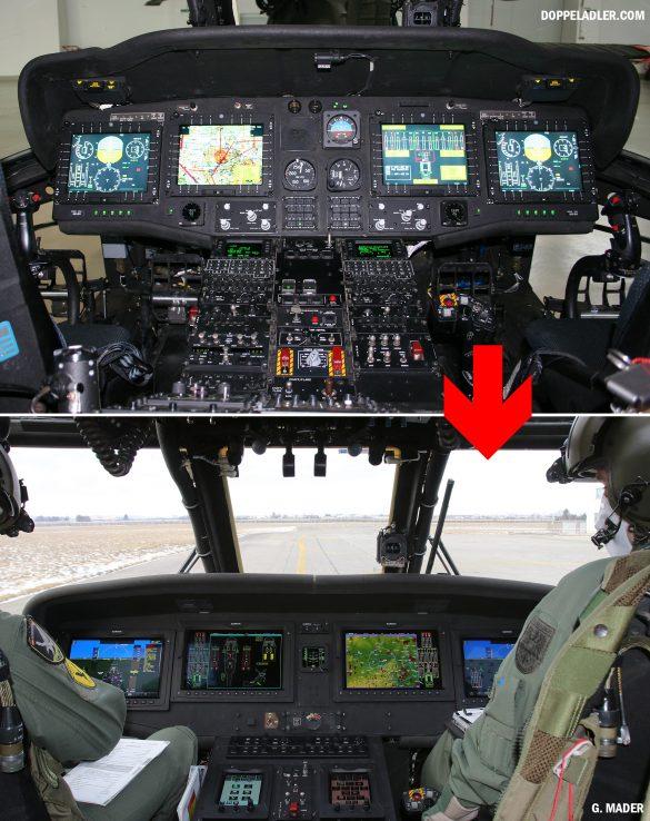 Altes und neues Cockpit des S-70A-42 BLACK HAWK © Doppeladler.com/G. Mader